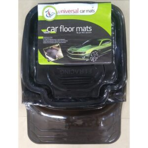 Universal Car Floor Tray Mat F1 Racing Crystal Smoke 5Pcs 075
