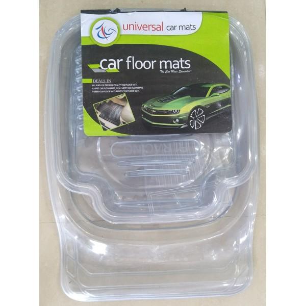 Universal Car Floor Tray Mat F1 Racing Crystal White 5Pcs 075