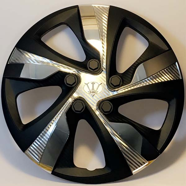"""Wheel Cup Taiwan WX4 1CR ABS Black And Silver 15"""" Inch"""
