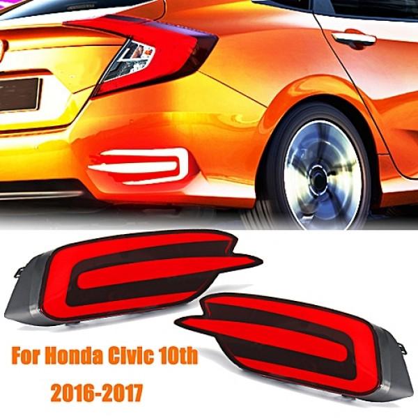 Honda Civic 2016 2017 LED DRL Rear Bumper Tail Lawa Light