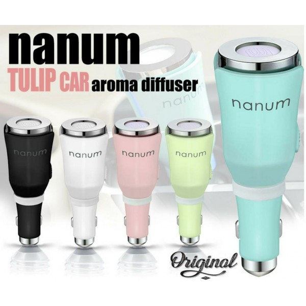 Nanum Tulip 2 in 1 Car Aromatherapy Diffuser USB Charger