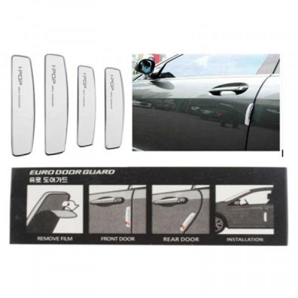 I-pop Simple White Car Door Guard Protector