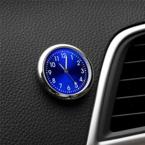 Car Watch Thermometer Luminous Auto Stick-On Digital Clock Quartz Analog Supply