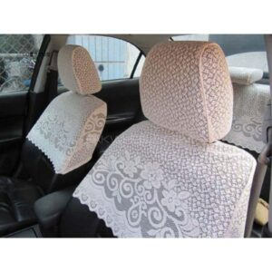 Universal Lace Seat Cover White
